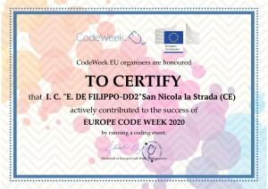 Certificato Code Week